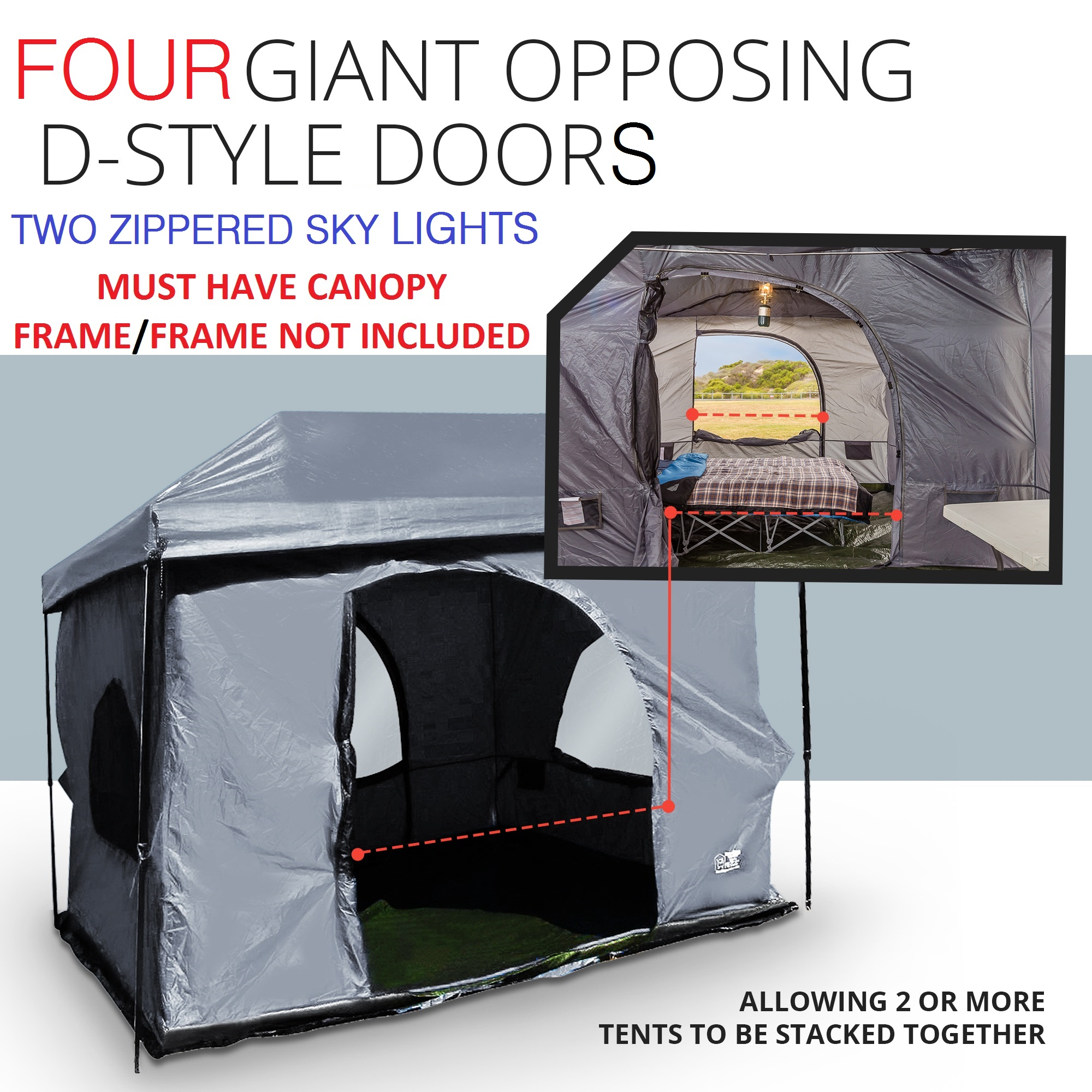 Standing Room 100 For Straight Leg Canopy Available colors Blue u0026 Tan IN STOCK Price$199 SALE $139 FREE Shipping ... & Standing Room 100 hanging Tent - Standing Room Tents